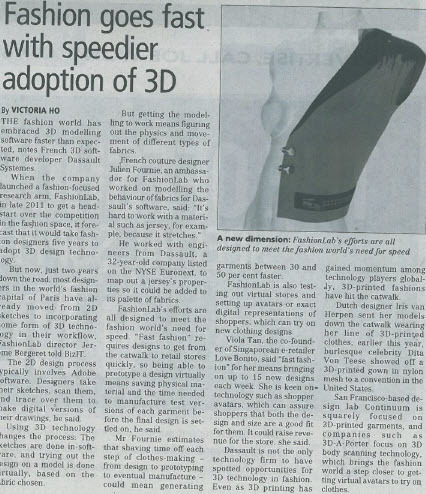 Fashion goes fast with speedier adoption of 3D | FashionLab | Scoop.it