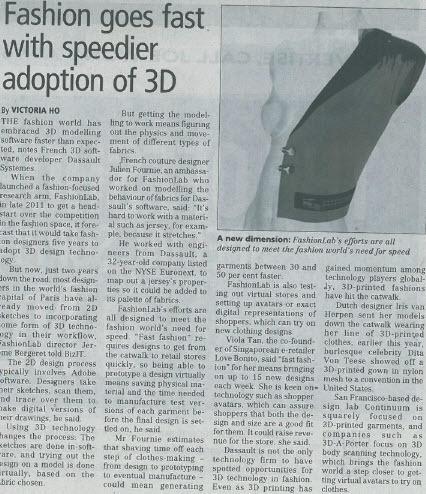 Fashion goes fast with speedier adoption of 3D | FashionLab | Scoop.it
