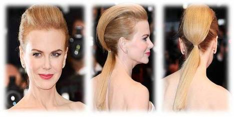 Nicole Kidman In Pompadour Ponytail Hybrid Hairstyle In Brown Hair Color | Beauty and Hairstyles | Scoop.it