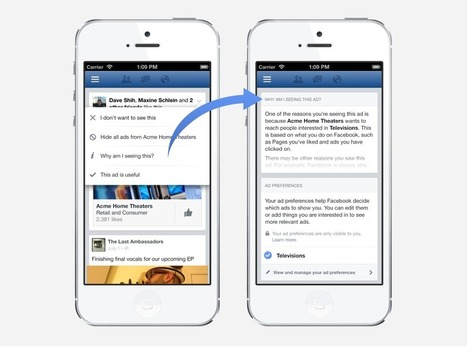 Making Ads Better and Giving People More Control Over the Ads They See | Facebook Newsroom | Mocial | Scoop.it