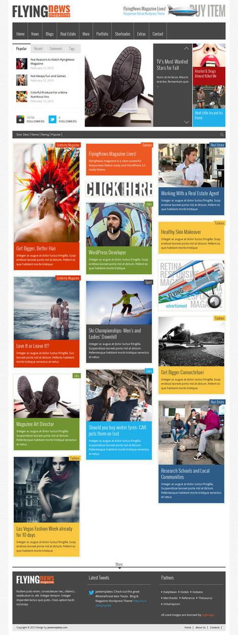 FlyingNews, WordPress Retina Ready Magazine Theme | WP Download | flyingnews | Scoop.it