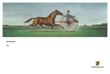 PRINT AD OF THE WEEK | 911 REAR HORSEPOWER | Scoop.it