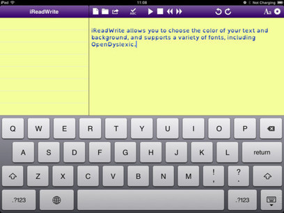 Assistive Technology Blog: iReadWrite iPad App: Word Processing ... | Social media accessible to the blind | Scoop.it