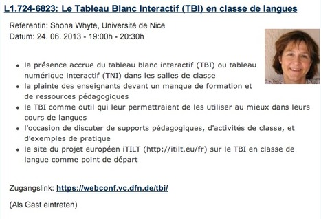 Le TBI en classe de langues : conférence en ligne 24 juin | Tech in teaching | Scoop.it