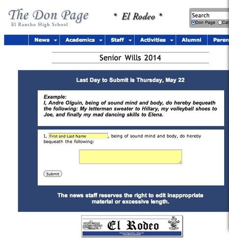 El Rodeo: Senior Wills | El Rancho High School | Scoop.it