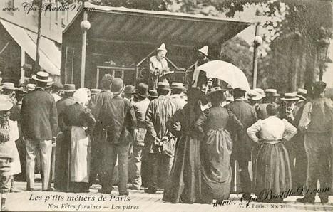 CPA – Les p'tits métiers de Paris Fêtes Foraines les pitres | Cartes Postales Anciennes | GenealoNet | Scoop.it