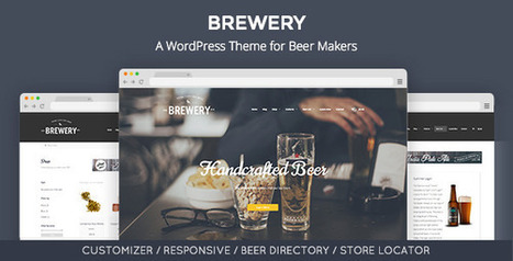 Brewery: A WordPress Theme for Beer Makers (Restaurants & Cafes) - Creative WordPress Theme | Creative Wordpress Theme | Scoop.it