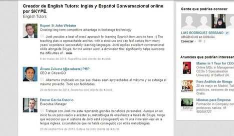 ET - ENGLISHTUTORS by Jordi Picazo - JOVENES LIDERES GLOBALES | Conversational English & Spanish from the Comfort of your Lounge | Scoop.it