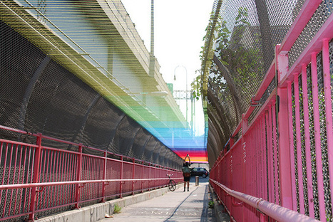 CMYK - A World Of Colour: A Colourful Stitch-Up Of The Williamsburg Bridge   CMYK – A wide range of amazing colour!   Scoop.it