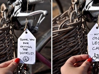 Melbourne's Bikers are Victims of Artist's Guerilla Thank You Notes | Vertical Farm - Food Factory | Scoop.it