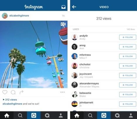 Instagram intègre maintenant un compteur de vues pour les vidéos | Référencement internet | Scoop.it