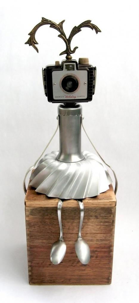 Les petits robots recyclés de Brian Marshall - La boite verte | Récup Création | Scoop.it