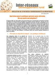 Quel bilan pour la politique agricole ouest-africaine, dix ans après son adoption ?   Questions de développement ...   Scoop.it