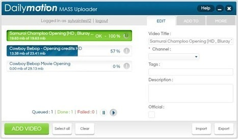 Uploader plusieurs vidéos sur Dailymotion   Time to Learn   Scoop.it