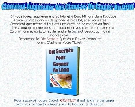 dix secrets pour gagner au loto | Dix secrets pour gagner au loto | Scoop.it