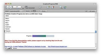 FileMaker gradient progress bar with one field - without containers   FileMaker   Scoop.it