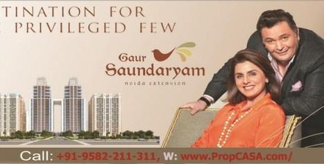 3/4 bhk Gaur apartments Gaur Saundaryam @ Noida Ext. - Bubblews | Gaur Saundaryam Noida Extension | Scoop.it