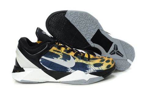 Nike Zoom Kobe VII(7) Cheetah Print Black/Silver/Grey/Blue Mens | fashion collection | Scoop.it