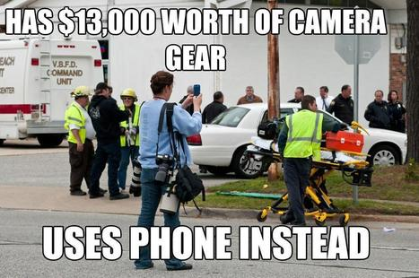 "Sign of the Times (or: ""Has $13,000 Worth of Camera Gear; Uses Phone Instead"") — Global Nerdy 