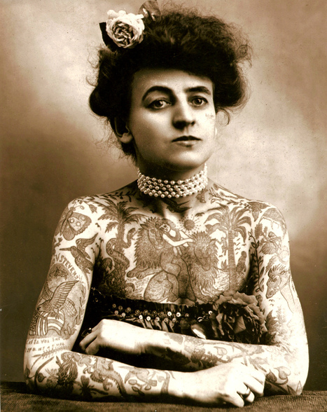 Slide Show: A Secret History of Women and Tattoo | Merveilles - Marvels | Scoop.it