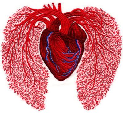Exquisite Heart Embroidery by Andrea Dezsö | Handstitched artwork | Scoop.it