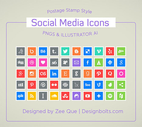 180+ Latest Awesome Premium Icons-Social Media Icons Sets | The 21st Century | Scoop.it