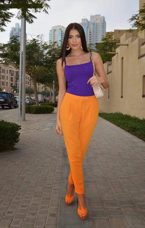 Summer clothes » Orange and purple – colour block   Summer clothes   Scoop.it