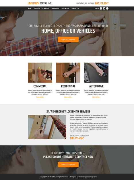 locksmith service html responsive website templates for sale | BuyLPDesign Blog | converting and effective landing page designs | Scoop.it