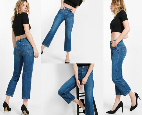 High Waisted Straight Crop Jeans | Jeans Fashion | Scoop.it