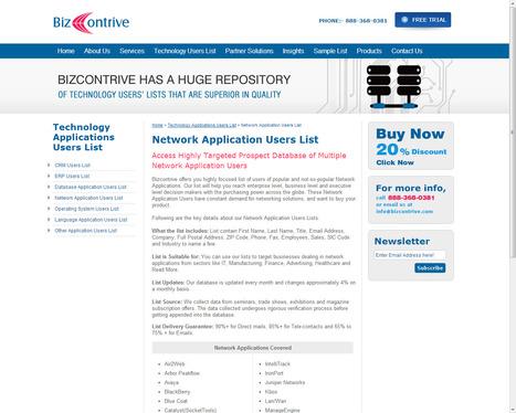 Network Application Customers List | Bizcontrive | Scoop.it