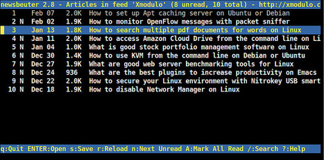 How to install Newsbeuter command-line RSS reader on Linux - Ask Xmodulo | Linux FAQ | Scoop.it