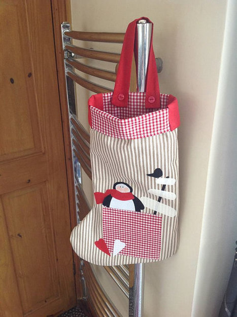 Christmas stocking - applique - hand made - made to order   Handmade items   Scoop.it