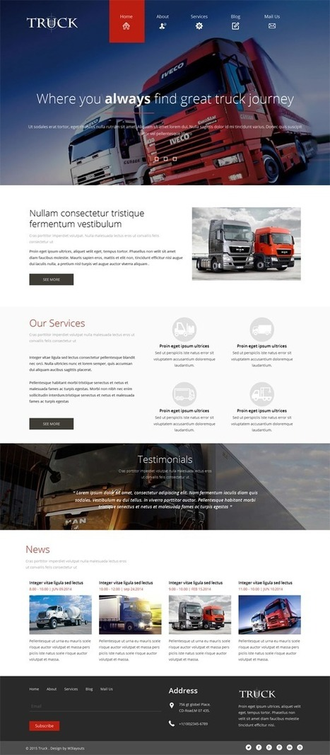 23 Autos & Transportation Responsive HTML Website Templates | Webtechelp | Scoop.it