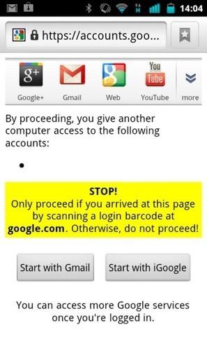 Google a testé la connexion sécurisée par QR Code   Web & Internet   Scoop.it