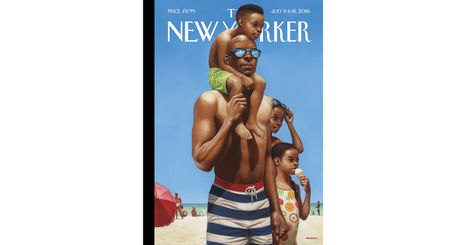 "Cover Story: Kadir Nelson's ""A Day at the Beach"" - The New Yorker 