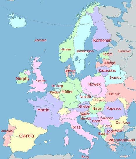 Los apellidos más comunes en Europa, por países   Español para extranjeros   Scoop.it