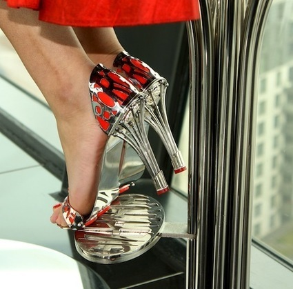 Shoe designer creates steel and silver stiletto heels - Metro.us | Fashion | Scoop.it