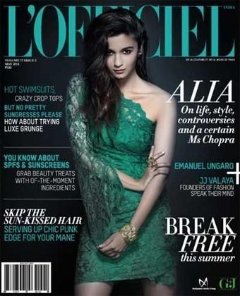 Alia Bhatt on L'Officiel Magazine Cover (May 2014) | Entertainments | Scoop.it