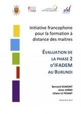 IFADEM-Burundi : rapport d'évaluation | IFADEM : Initiative francophone pour la formation à distance des maîtres | Focus IFADEM | Scoop.it