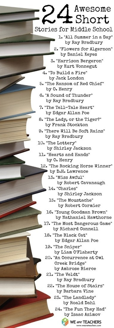 24 Short Stories for Middle Schoolers | CCSS in the Library | Scoop.it