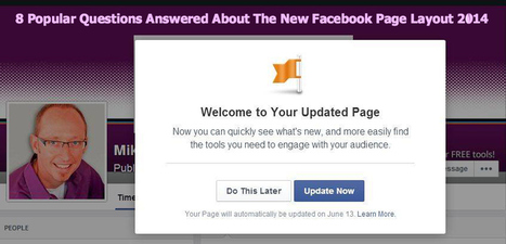 The New Facebook Page Layout 2014: 8 Questions Answered   Facebook Page   Scoop.it