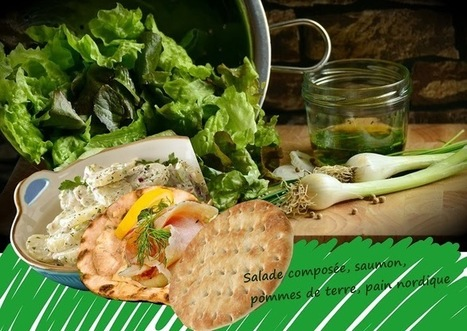 Recette de salade de pommes de terre, saumon, oeufs de lump en coque de pain nordique | Street food : la cuisine du monde de la rue | Scoop.it