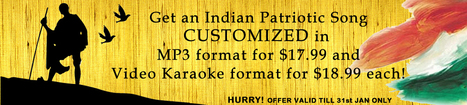 Special Offer on Customized Indian Patriotic Song | Hindikaraokeshop - Buy Indian Music and Hindi Song | Scoop.it