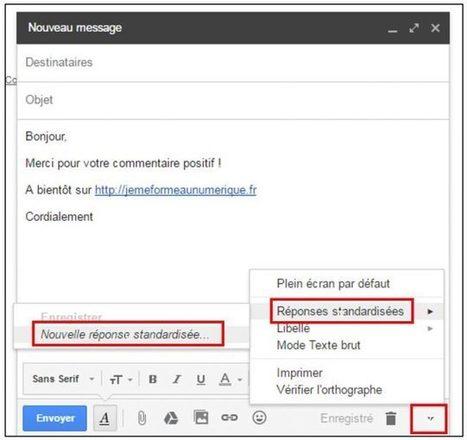 Gmail : utiliser des modèles de mails prédéfinis | Trucs et astuces du net | Scoop.it