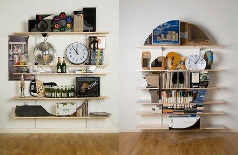 Rearranging Shelves to Look Like Skulls | rakarekodamadama | Scoop.it