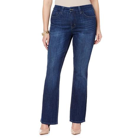 Melissa McCarthy Seven7 Stretch Slim Boot-Cut Jean | Jeans Fashion | Scoop.it