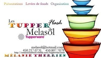 J'ai refait une beauté à mon site web ! Passez me voir :) Melasol – Tupperware | Tupperware, pourquoi pas ? | Scoop.it