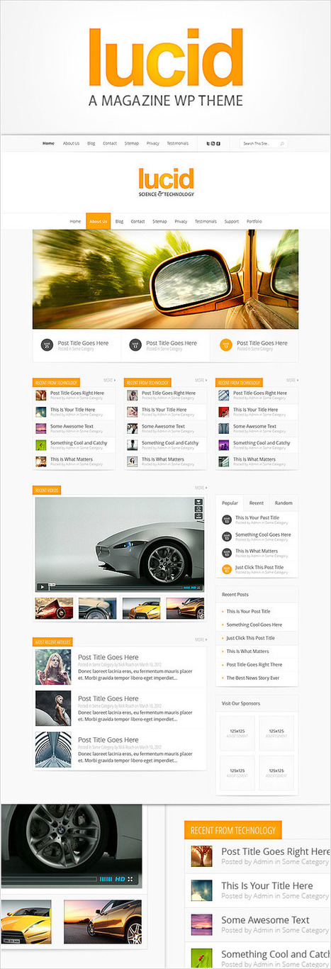 Sneak Peek Of Our Upcoming Theme Lucid   Elegant Themes Blog   WordPress and Blogging   Scoop.it