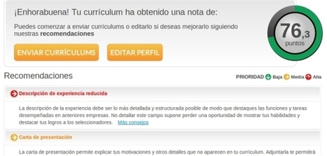Primera herramienta para valorar online la calidad de los currículums | ORIENTACIÓ | Scoop.it