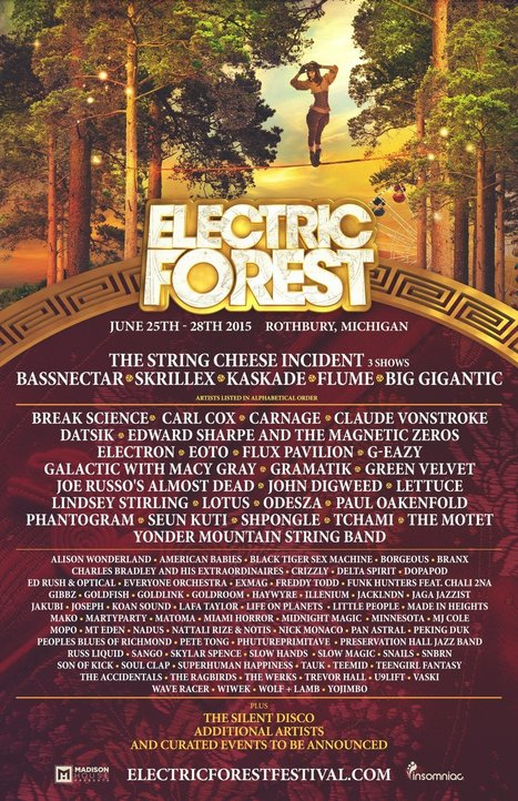 Electric Forest reveals enticing 2015 lineup | DJing | Scoop.it